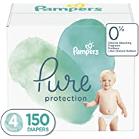 Diapers Size 4, 150 Count - Pampers Pure Disposable Baby Diapers, Hypoallergenic and Unscented Protection, ONE MONTH SUPPLY