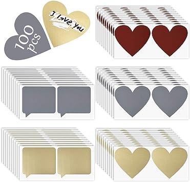 Autocollant /à Gratter Argent /Étiquette de Scratch Rectangle pour DIY LYTIVAGEN 150 Pcs DIY Carte /à Gratter