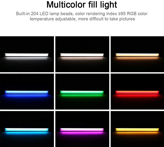 Puluz Rgb Farbenfrohes Led Video Licht Professionell Kamera