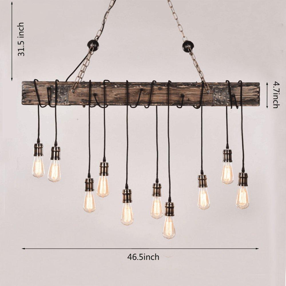Lámpara Colgante Rústico Industrial Edison Viga De Lampara 5j3RL4Aq