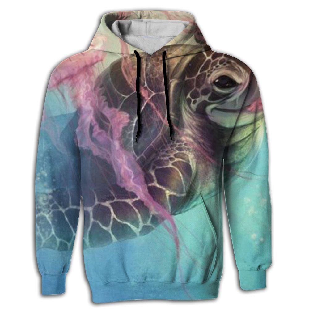 Jellyfish Medusa Men's Novelty Wholesale Long Sleeve Hoodie