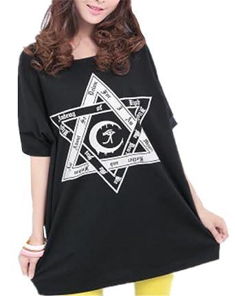 2003105950d93 Kerlana Tendance Grande Taille Femmes Beau Enceintes T-Shirt Manches  Courtes ImprimÉEs Grossesse Haut Confortable
