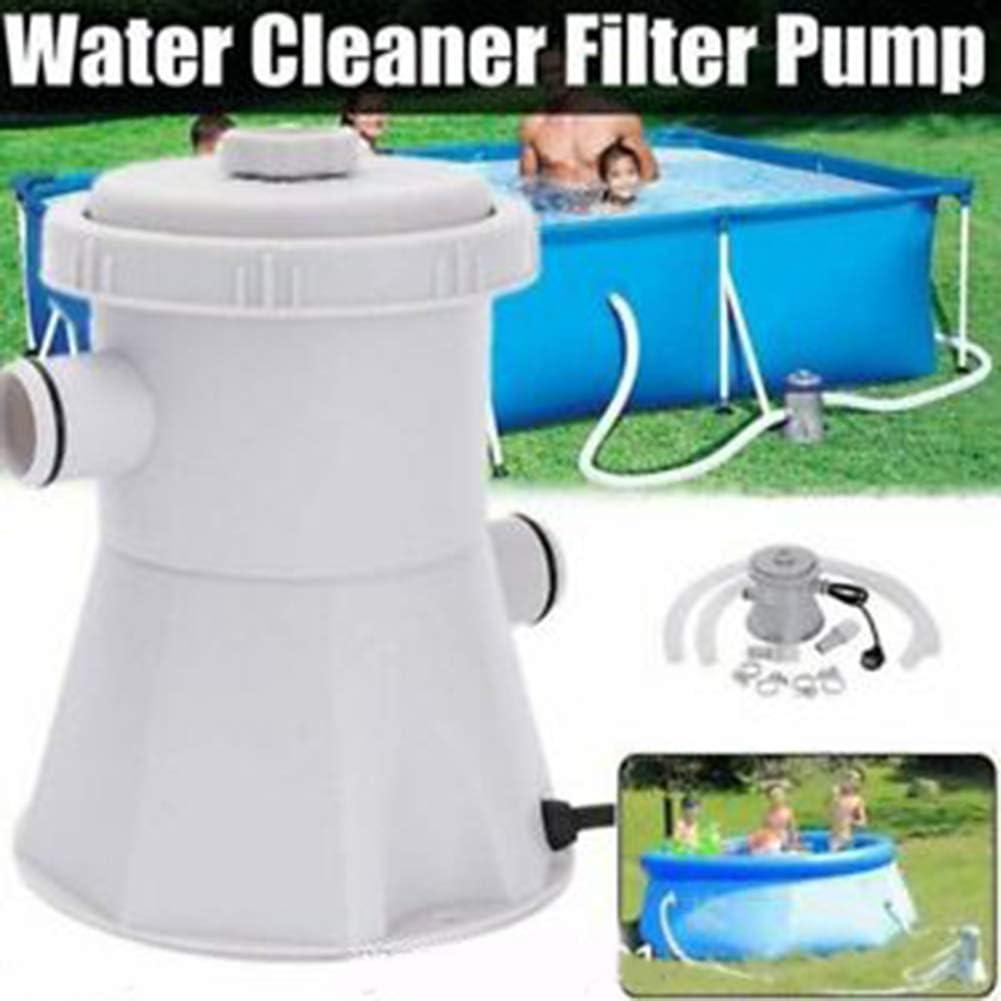 unbran Cartridge Pool Filters Pump, Pool Pumps Above Ground,Electric Swimming Pool Filter Pump for Above Ground PoolsCleaning Tool+ Filter Cartridge