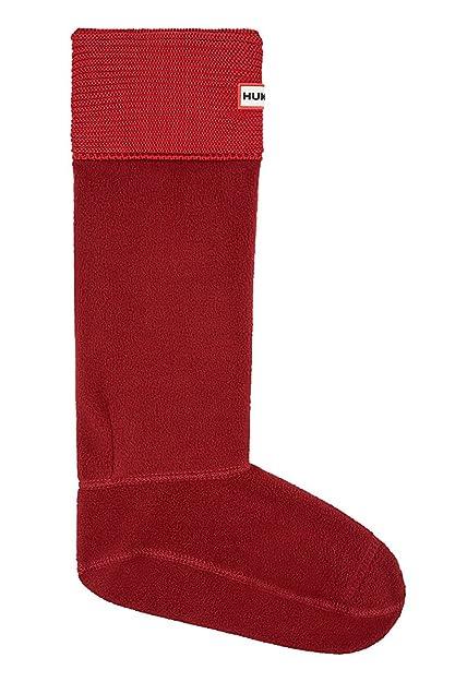 Hunter Calcetines para bota de punto bobo UAS3016AAM / ROJO LAVA - Calcetines de forro polar para botas de agua, color rojo, M: Amazon.es: Zapatos y ...