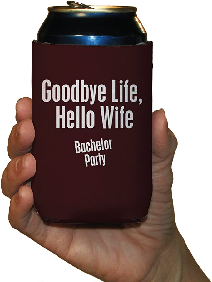 Party Coming Name Bachelor Party Date Neoprene Wedding Can Cooler Double Side Print Bach15