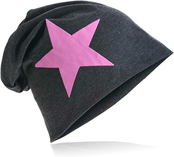 Neu Jersey Beanie Mütze  Slouch Long Damen Herren Trend Unisex Dunkelblau