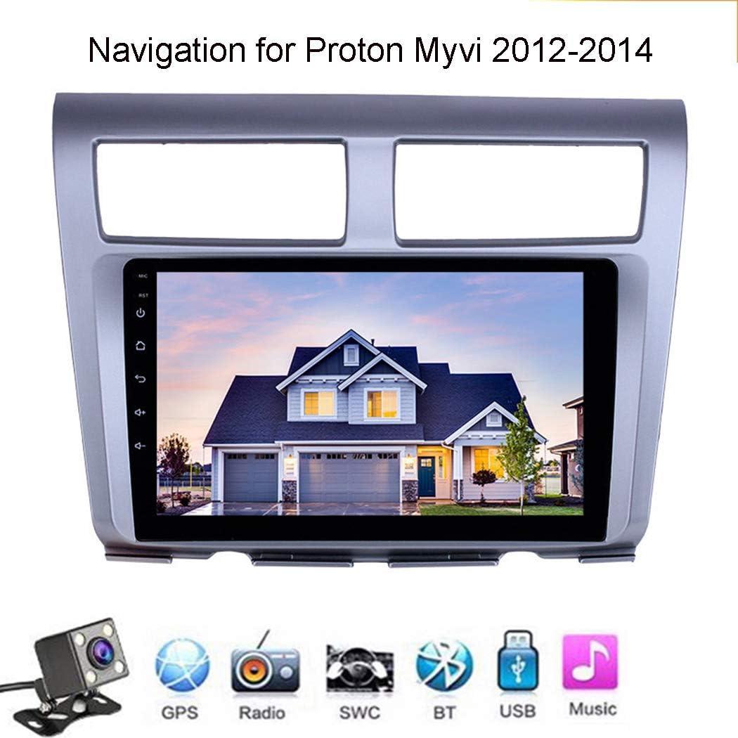 ZhiQin Android 8.1 Quad Core GPS Navegador Coche para Proton Myvi 2012-2014 - FM Am Radio del Coche, Conexión a Internet WiFi/BT, Soporte DVR USB/Llamadas Manos Libres,WiFi: 1+16gb: Amazon.es: Deportes y aire