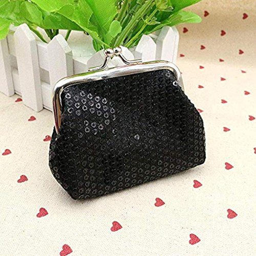 Womens Black Wallet 2018 Handbag Clutch Clearance Wallet Retro Coin Purse Ladies Noopvan Small Sequin Wallet w0IqRR