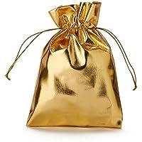 30 Pezzi. Busta in Organza, Oro Metallizzato, Dimensioni 20 x 13 cm (Altezza x Larghezza), Opaca