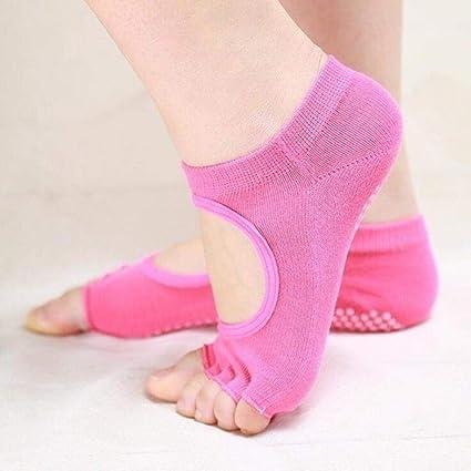 EABBY Calcetines de Yoga Calcetines Antideslizantes de ...