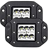 TURBO SII Spot 3X3 4.5In Flush Mount Pods Cube Reverse Backup Light Fog Lights Bumper Offroad Lights