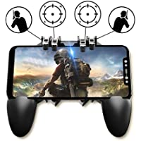 NOYMI Pubg Trigger Controller,Mobile Gamepad - 6 Finger Pubg Game Assistant with 4 Highly Sensitive Triggers,Left and RightTilt Probe,Fast Shooting(Black)