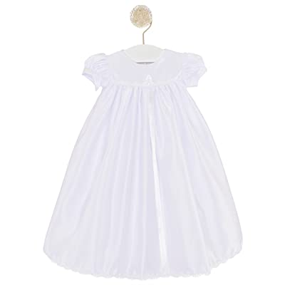 Ashley Satin 12 Month Christening, Baptism or Blessing Gowns. Made in the USA