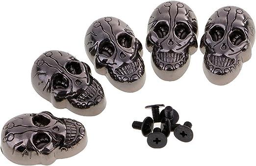 20 Sets Skull Head Screwback Rivets Studs for DIY Crafts Leather Bag Decoration