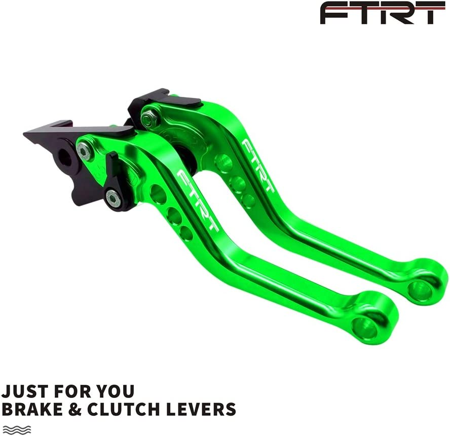 FTRT Adjustable Short Brake Clutch Levers for Kawasaki EX650 Ninja 650R ER-6F ER-6N 2009-2016/ EX400 Ninja 400R ER-4F 2011-2013/ KLE650 VERSYS 650 2009-2014: Green