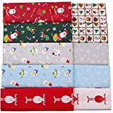 Christmas Fabric,100% Cotton Fat Quarters Fabric Bundles,Quilting Fabric for Craft Sewing,10 Pcs 18''x22''(2 1/2 Yards Total)
