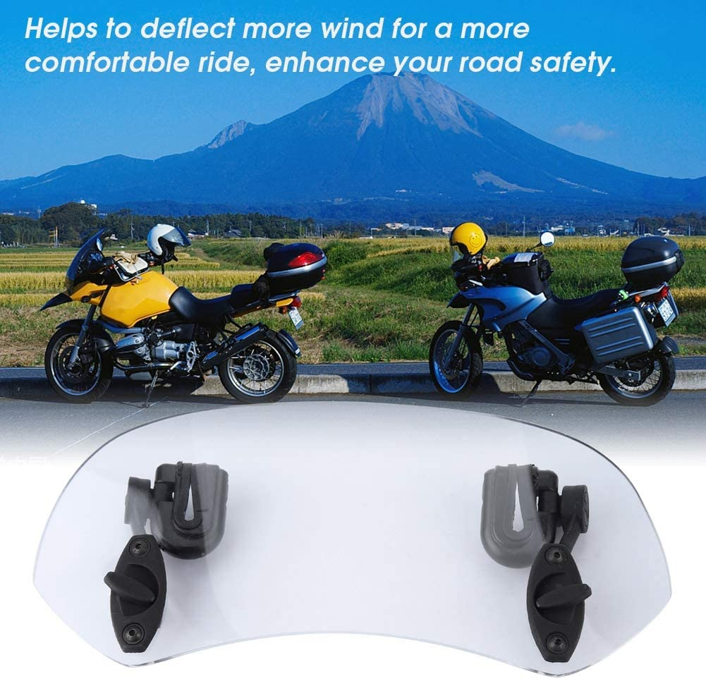 Motorcycle Windshield Extension Universal Adjustable Motorcycle Modified Windscreen Windshield Spoiler Air Deflector Smoked small