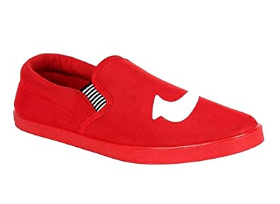 7e0ad11e Walkrack Phantom Red Canvas Casual Loafers - Stylish Casual Shoes for Boys  (10)