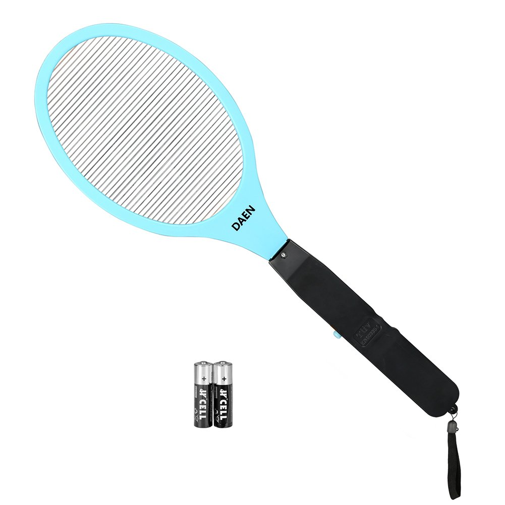 DAEN Electric Bug Zapper Fly Swatter Zap Mosquito Best for Indoor and Outdoor Pest Control- - Specialized Blue, Yellow for your choice (AA batteries Included)