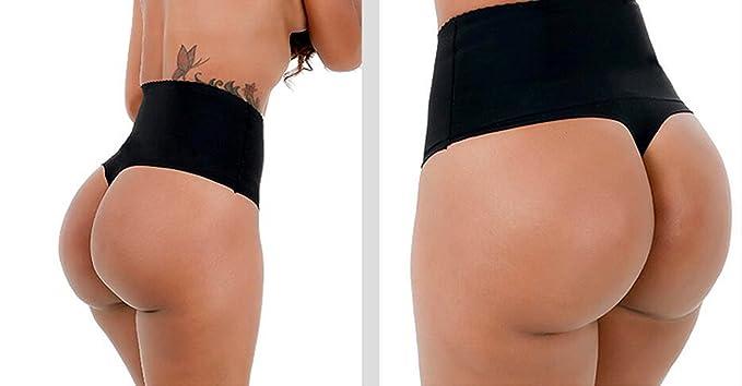 4c7ec893b5b Ci-Guo Women s Seamless Plus Size T-Back High-Waist Sliming Underwear Bikini  G-Strings Shapewear Thong Briefs at Amazon Women s Clothing store