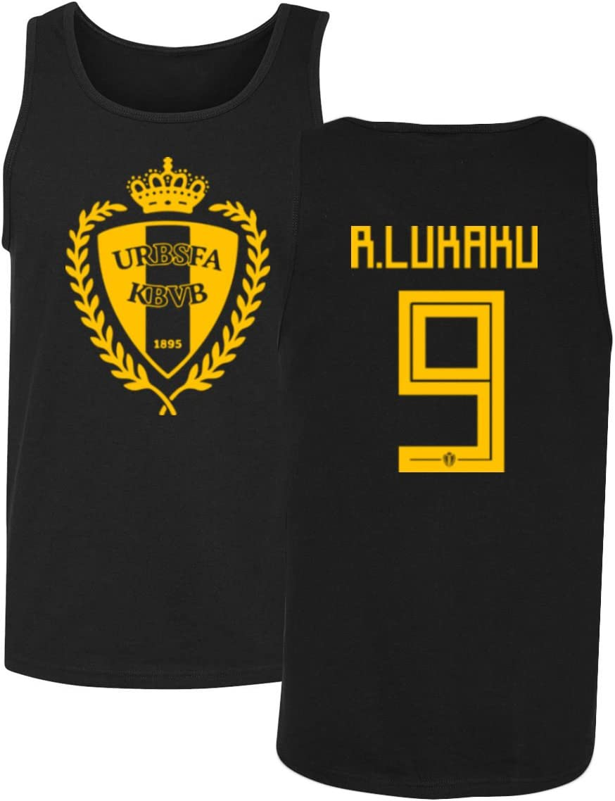 B07DP1MW24 Tcamp Belgium 2018 National Soccer #9 Romelu LUKAKU World Championship Men's Tank Top 61POBzKjKrL