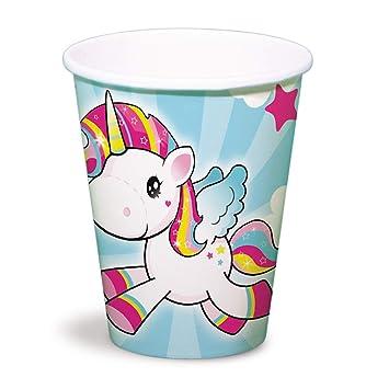 NET TOYS 8 Vasos de Unicornio | 250 ML de Capacidad | Mágica ...