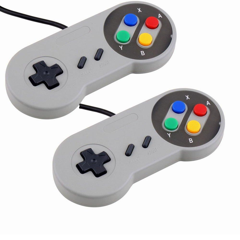 Galleon - 2 Pack SNES Game Controller, Retro USB Super Nintendo