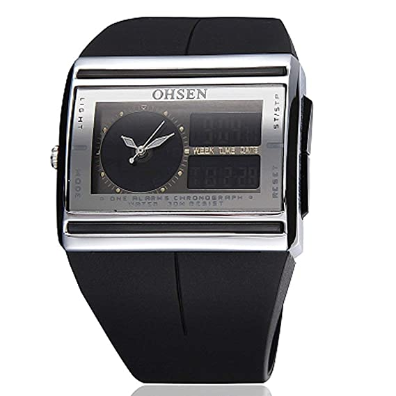 OHSEN - Reloj Digital para Hombre 6e6b27d8aaee