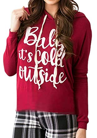 f8ef8ef2a JollyChic Red V Neck Hoodie & Sweatshirt For Women: Amazon.ae: dumesho