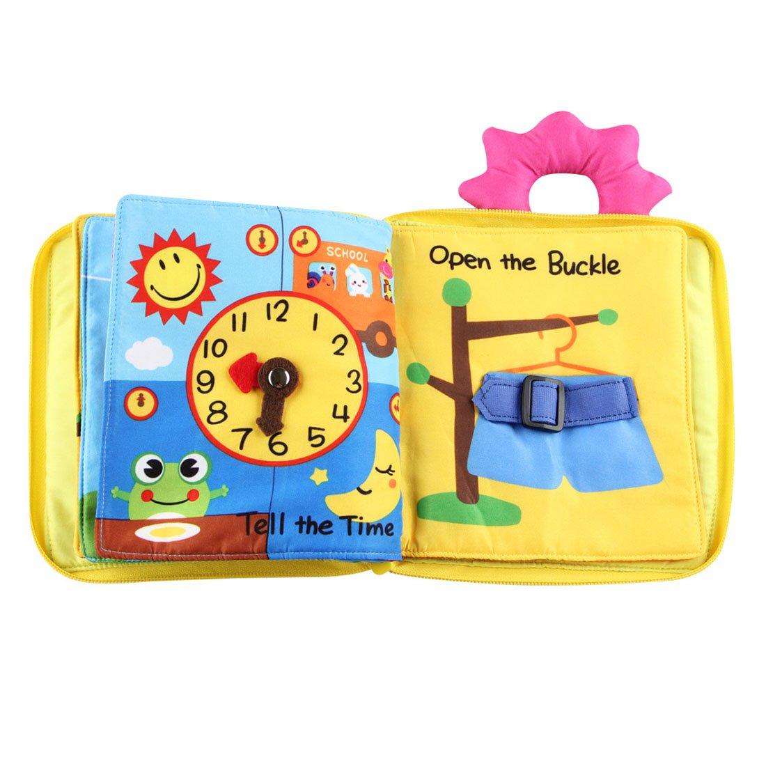 Xianheng Libros de Tela Juguete Interactivo Para Bebé Educación Temprana y Desarrollo