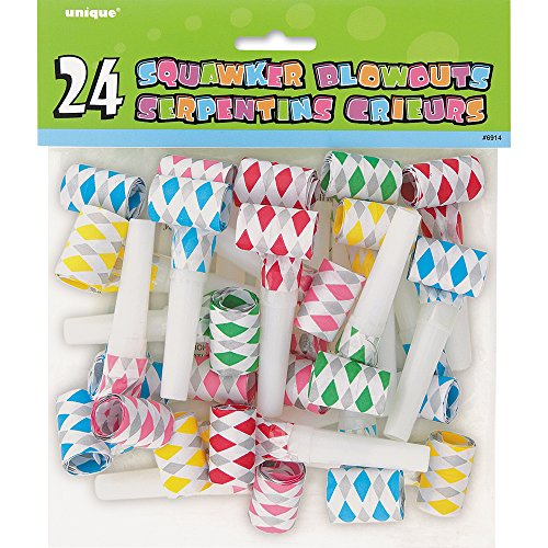 Diamond Squawker Party Blowers, Assorted (Blower Favors)