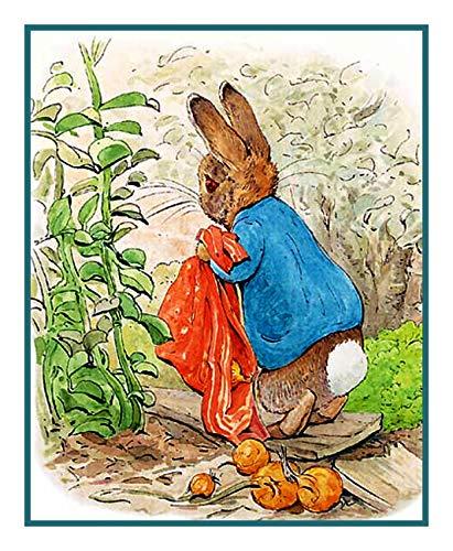 Peter Stitch Cross Rabbit Pattern (Orenco Originals Peter Carrying Onions by Beatrix Potter Counted Cross Stitch Pattern)