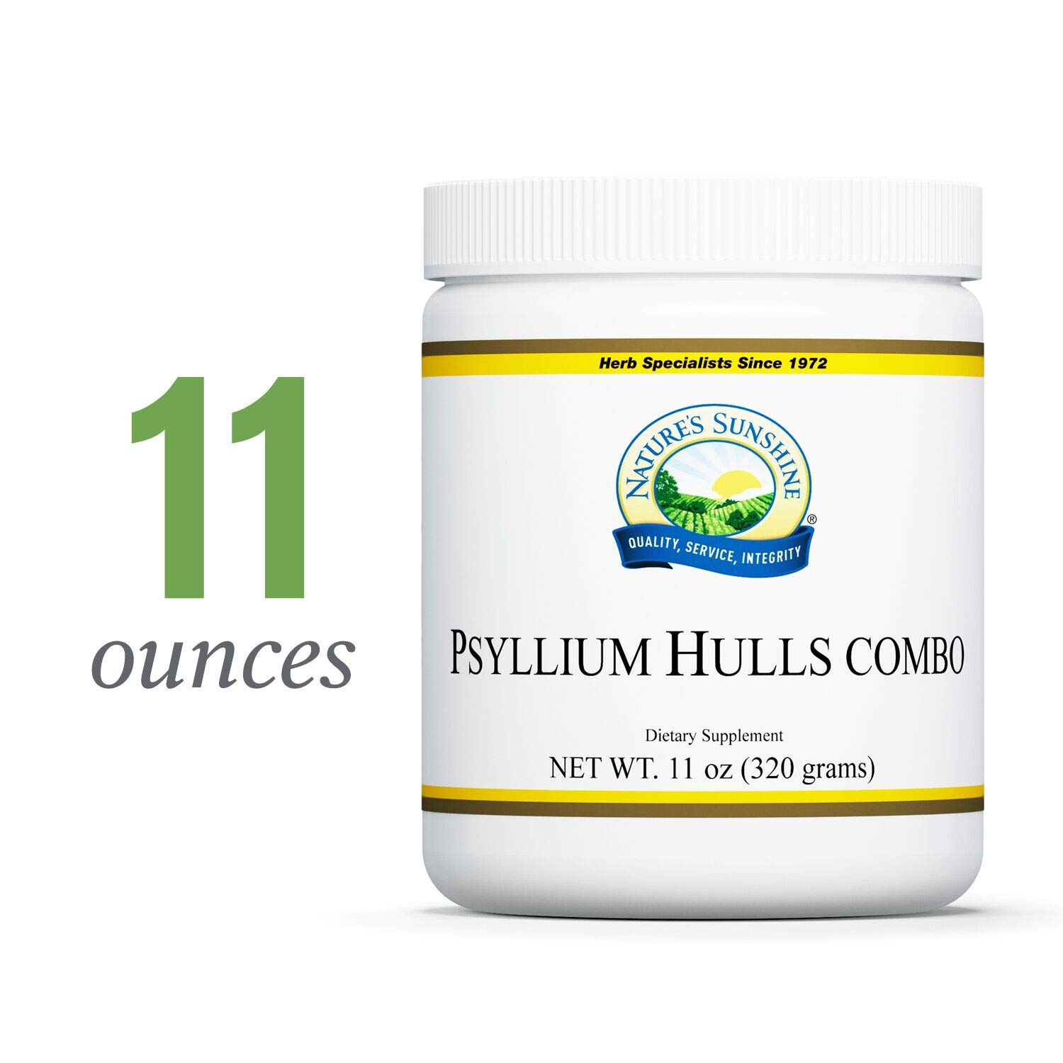 Nature's Sunshine Psyllium Hulls Combination, 11 oz. | Organic Intestinal System Support is High in Soluble Fiber Which Facilitates The Process of Waste Elimination