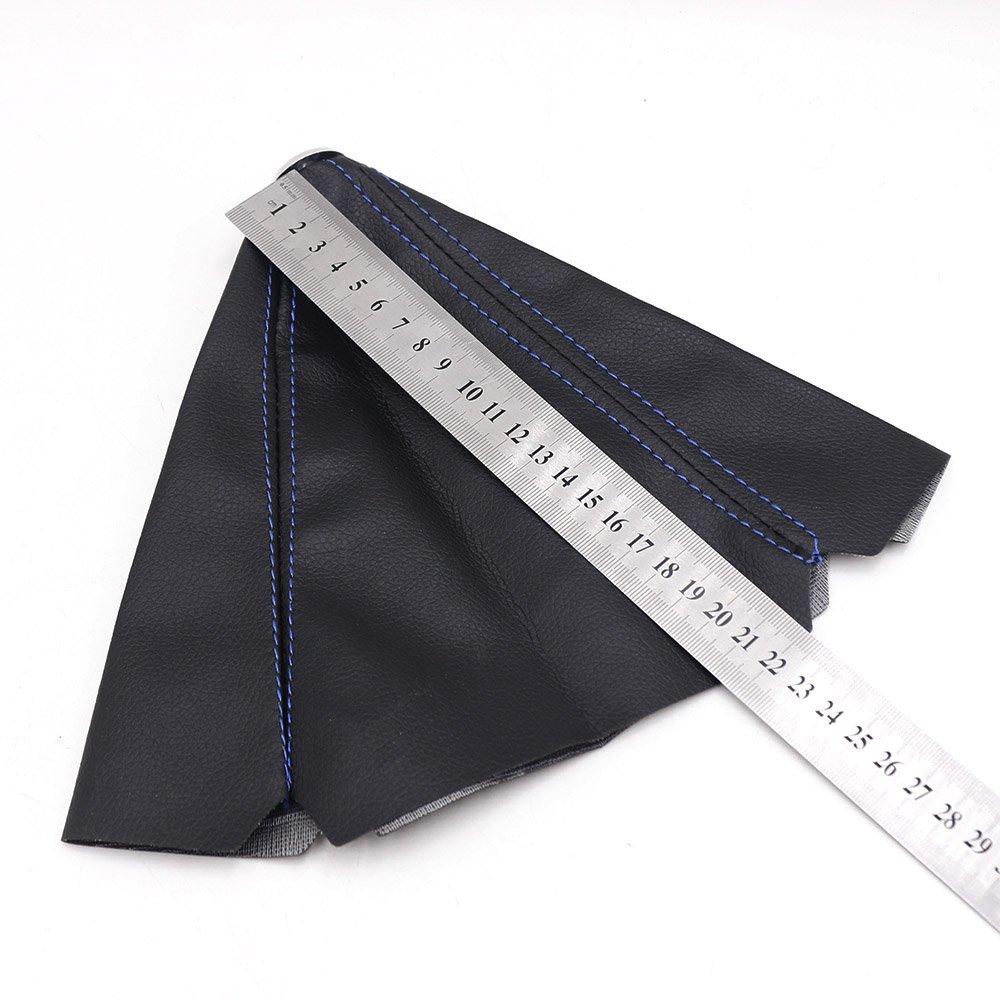 Knobs Pursuestar Universal PVC Leather Blue Stitch Shift Knob ...