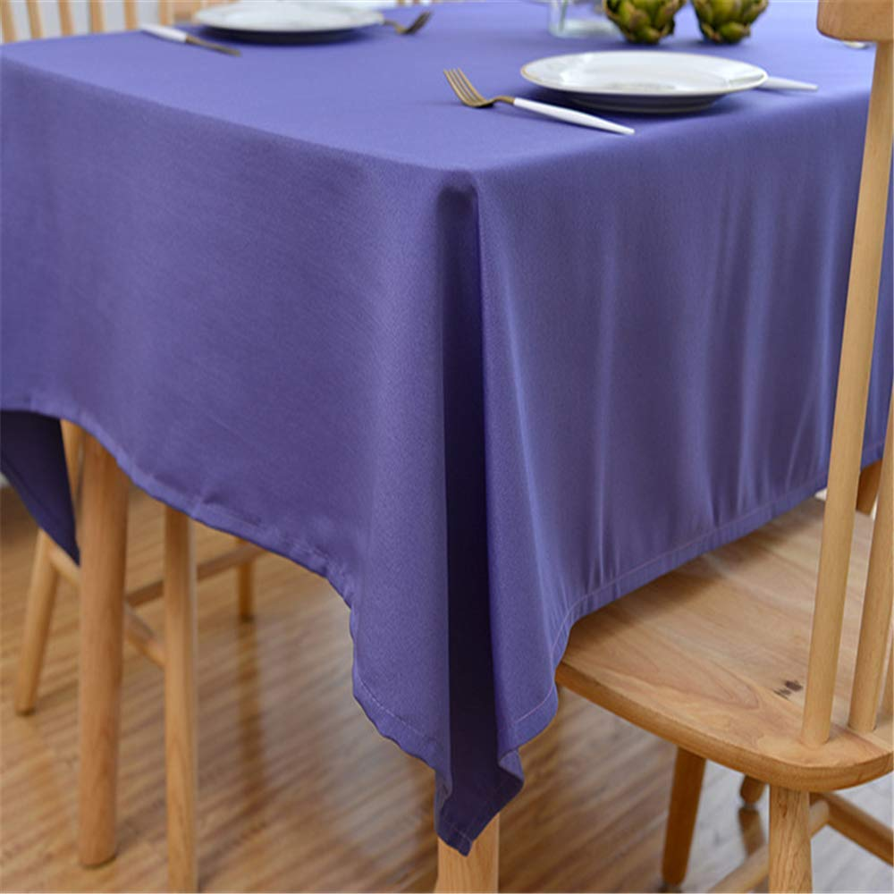 MMHJS Polyester Tablecloth Restaurant Banquet Simple Solid Color Tablecloth Dark Green Rectangular Fabric Tablecloth A 70x70cm