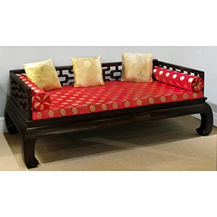 China Furniture Online Elmwood Day Bed, Hand Crafted Ming Design In Dark  Brown Finish