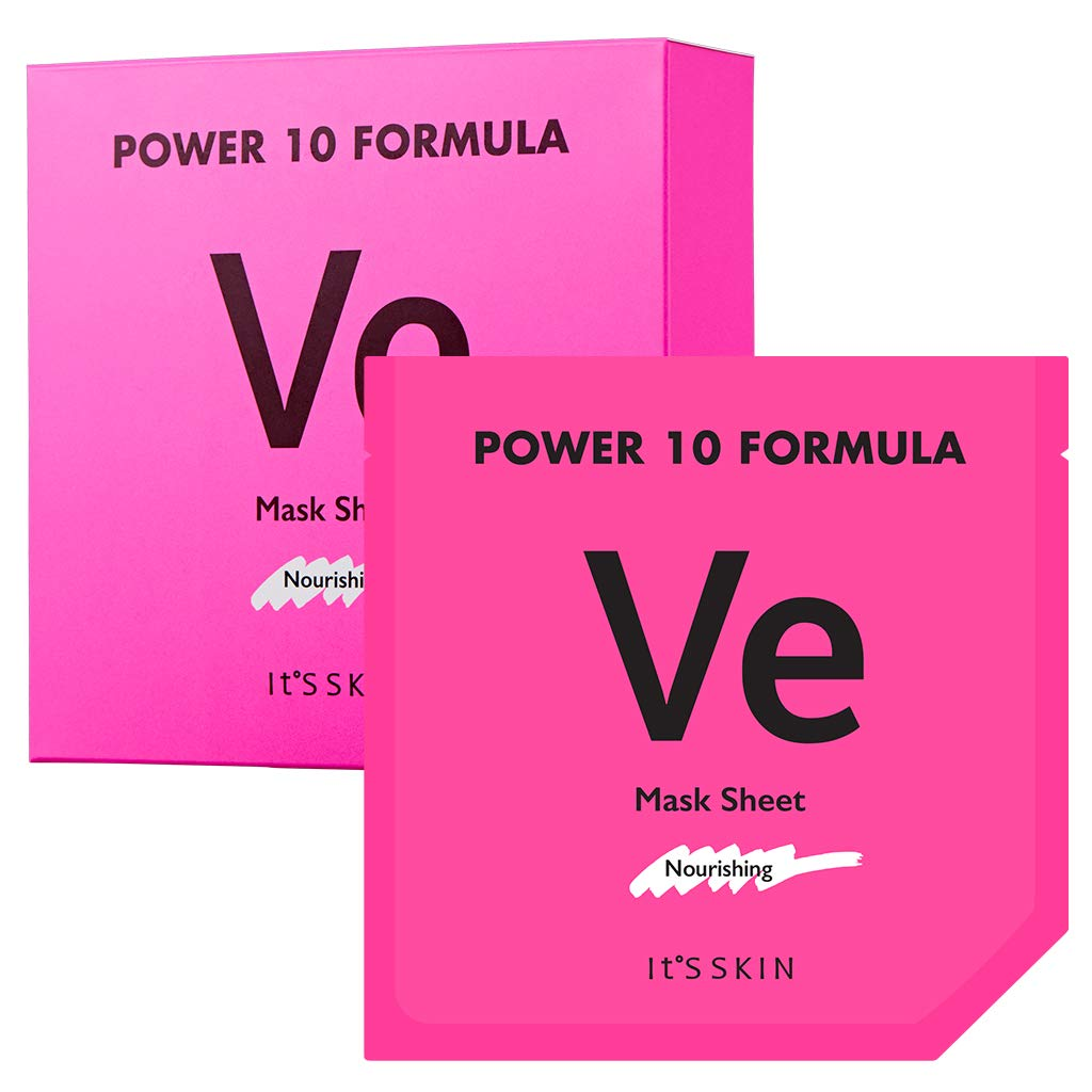 Amazon.com : It'S SKIN Power 10 Formula VE Mask Sheet Set 10 Sheets - Skin  Nourishing & Moisturizing Facial Mask Sheet, Radiance, Healthier Looking  Skin for Dull and Dry Skin : Beauty