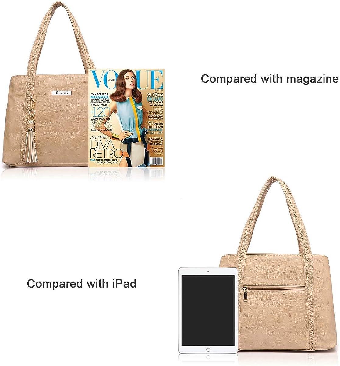 YOVIEE Designer Top Handle Handbags for Ldies Satchel Crossbody Shoulder Bag Purse Tassel for Travel Shopping 9630