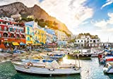 Coastal Village Landscape Capri Italy, Jigsaw Puzzle, High Quality Collection, 1500 Pieces