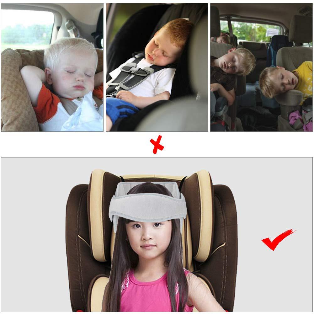 Rosa Linkax Kindersitz Kopfband,Autositz Kopfband,Kopfst/ütze Kinder Auto kinderkopfst/ütze f/ür Autositz Nackenst/ützen Verstellbarer Kopfst/ützgurt