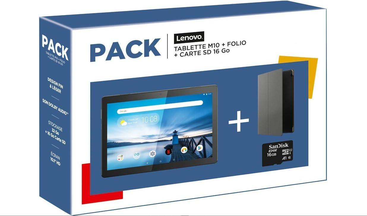 Lenovo Pack M10HD 10.1 32GB WiFi Negro + Folio + Tarjeta SD 16GB: Amazon.es: Informática