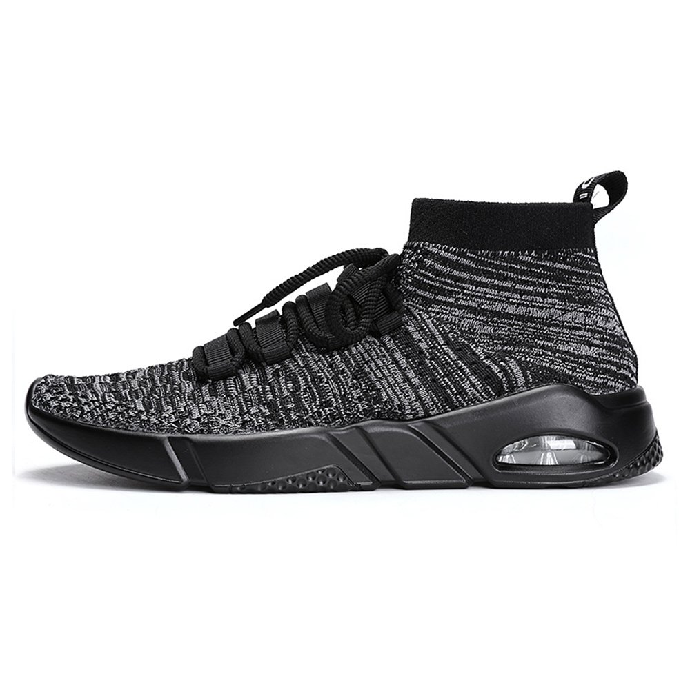 715a7a236e8 luwell Mens Mesh Trainers Lace Up Lightweight Sports Running Shoes Casual  Fashion Anti-Slip Sneakers (1806) Grey 46  Amazon.co.uk  Shoes   Bags