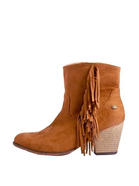 mejores zapatillas de deporte 32ce2 ac4c7 Mustang Botas Cowboy Flecos Cuero EU 38: Amazon.es: Zapatos ...