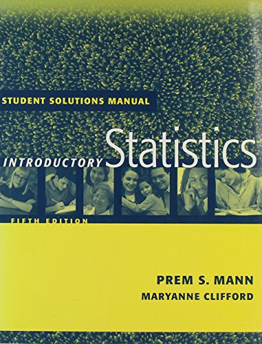 Student Solutions Manual to accompany Introductory Statistics, 5th Edition