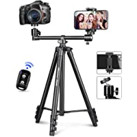 UBeesize 50-inch Phone Tripod Stand with Extended Arm, Portable Horizontal Tripod with 360° Adjustable Ball Head for…