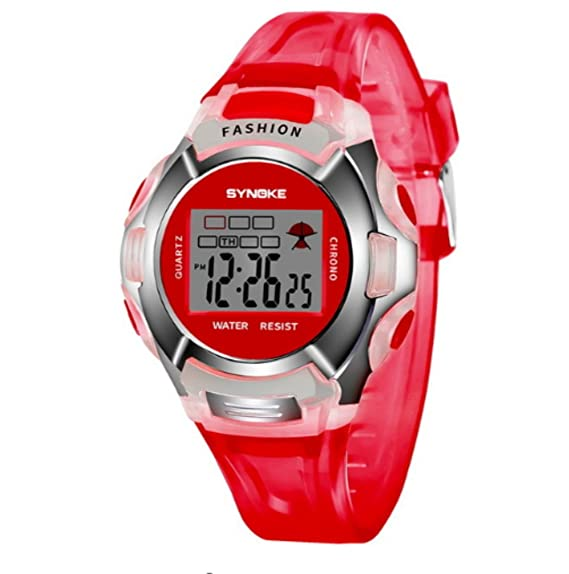Reloj digital para niñas, resistente al agua, reloj de pulsera para niñas, LED