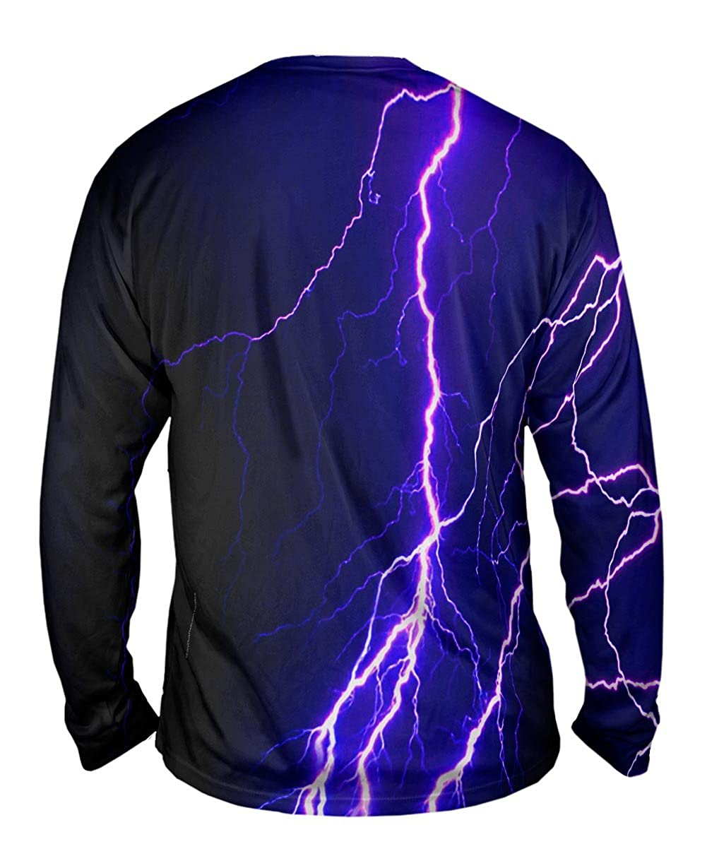 TShirt Violet Lightning Storm Mens Long Sleeve Yizzam