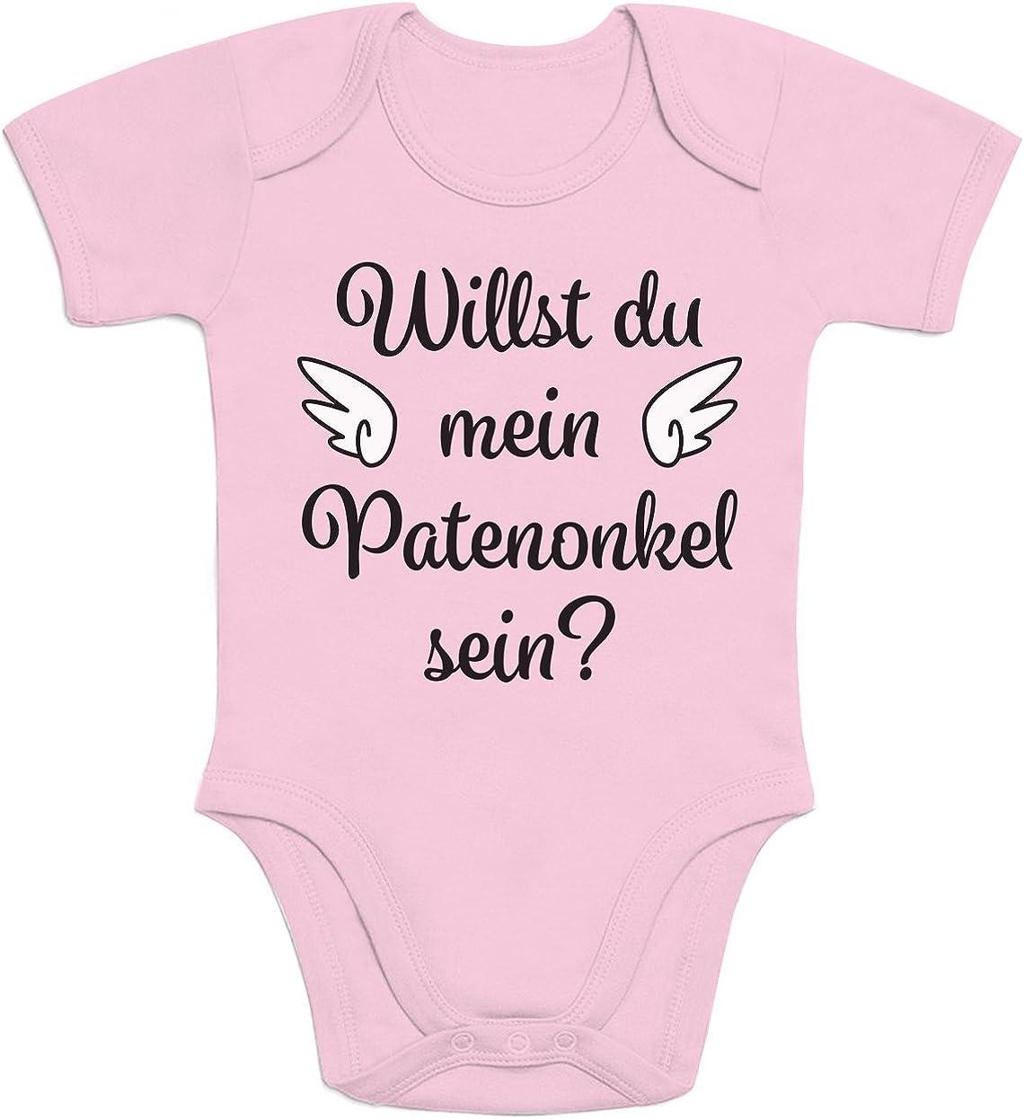 Shirtgeil Geschenkidee f/ür Paten Willst du Mein Patenonkel Sein Baby Body Kurzarm-Body
