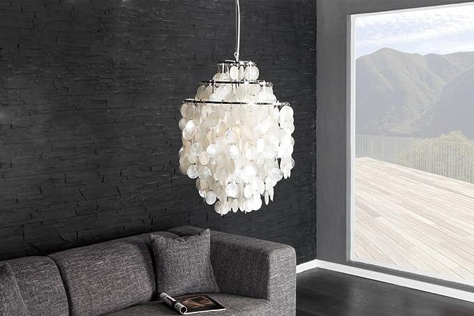 Diseño techo 40 cm lámpara Shell de concha nácar: Amazon.es ...