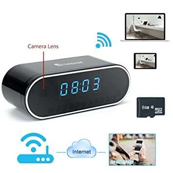 tekmagic 16 GB 1280 x 720P HD Alarm Clock WiFi Network Spy Camera